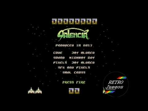 Galencia para Commodore 64 - Review de RETROJuegos por Fabio Didone