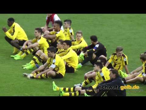 BVB - Leverkusen - Nach dem Spiel - Feiern 6-2
