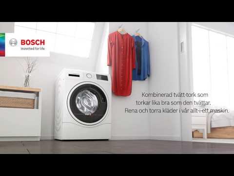 Bosch kombinerade tvättmaskin och torktumlare, perfekt tvätt-och torkresultat i en och samma maskin.