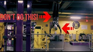 DON'T DO THIS IN PLANET FITNESS! Lunk alarm!