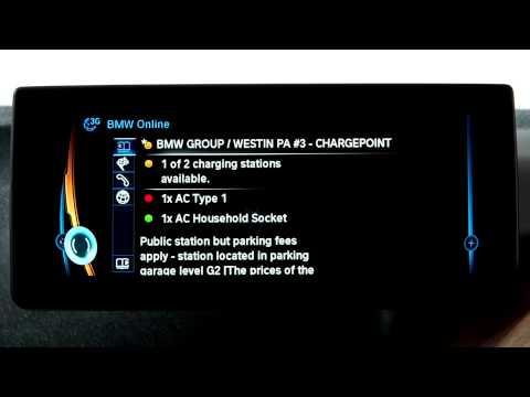 BMW i Navigation System: Charging Station Status