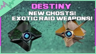NEW GHOSTS! Exotic Raid Primaries & More | Destiny Age Of Triumph