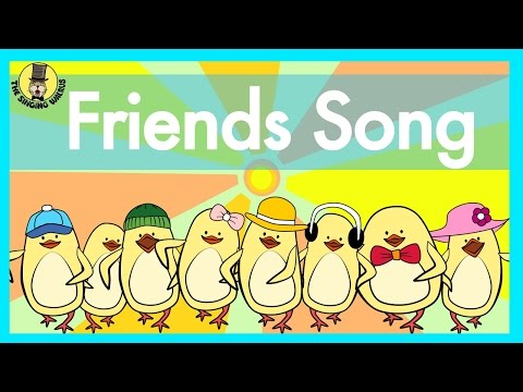 Friends Song | Verbs Song for Kids | The Singing Walrus - YouTube