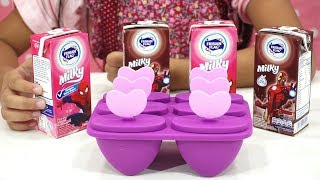Koki Cilik Jessica 💖 Membuat Es Krim Loli 2 Rasa 💖 Mainan Anak Let's Play