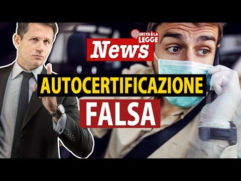 FALSA AUTOCERTIFICAZIONE COVID: non è reato | avv. Angelo Greco