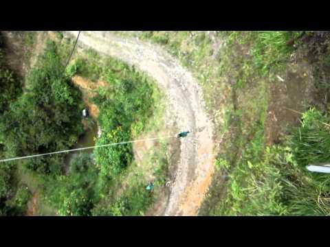 Tarzan swing in Mindo, Ecuador