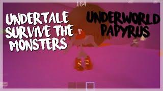 ROBLOX Undertale Survive The Monsters: Underworld Papyrus