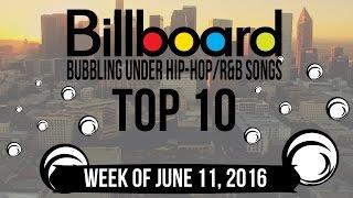 Top 10 - Billboard Bubbling Under Hip-Hop/R&B Songs   Week of June 11, 2016   Charts