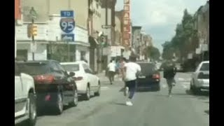 Rich The Kid Running From Lil Uzi Vert After Chasing Him Down Street