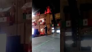 Morelia michoacan 15 de septiembre presentando a los Tigres del Norte.