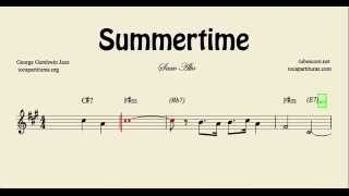 Summertime Sheet Music for Alto Saxophone with Chords