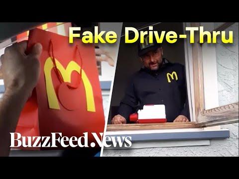 Family Recreates McDonald's Drive-Thru