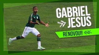 Gabriel Jesus renova com o Palmeiras e declara amor ao clube