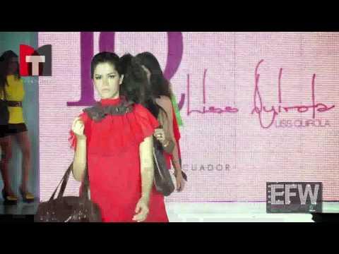 Ecuador Fashion Week Diseñadora Ecuatoriana  LISS QUIROLA
