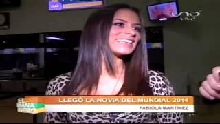 "Así llego Fabi Martinez la nueva ""Novia del Mundial Brasil 2014"" a Bolivia"