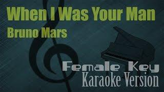 Bruno Mars - When I Was Your Man (Female Key) Karaoke Version | Ayjeeme Karaoke