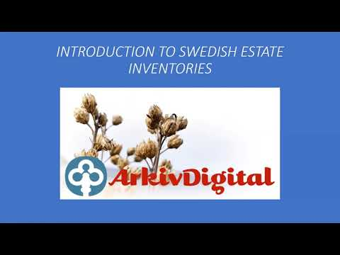 Introduction to Swedish Estate Inventories