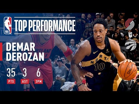 DeMar DeRozan's Electric Performance vs The Blazers