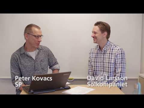Peter Kovacs på SP och David Larsson på Solkompaniet