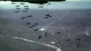 US Air Force dropping Cluster Bombs...