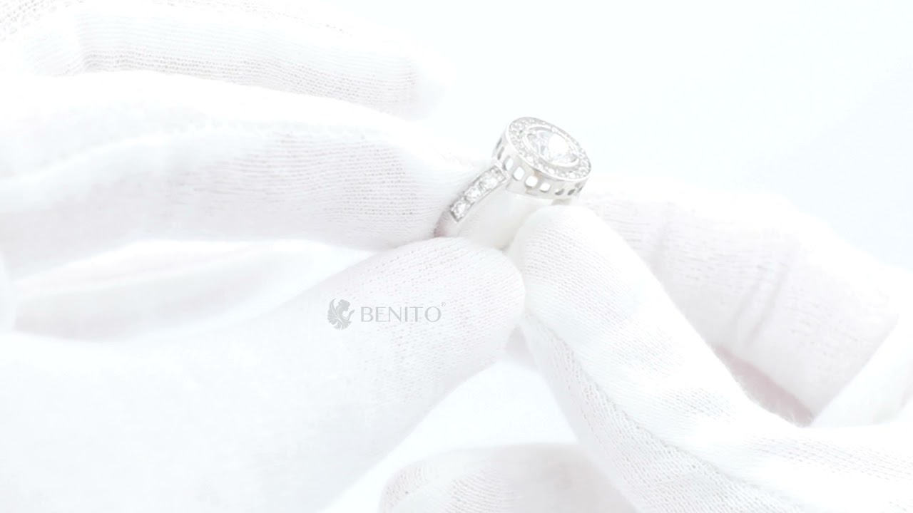 Viola Ring White Zircon Stones