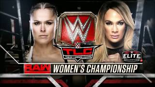 WWE TLC 2018: Ronda Rousey vs. Nia Jax - Official Match Card