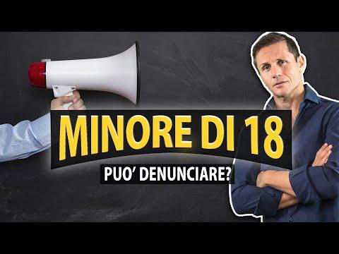 UN MINORE PUÒ DENUNCIARE? | avv. Angelo Greco