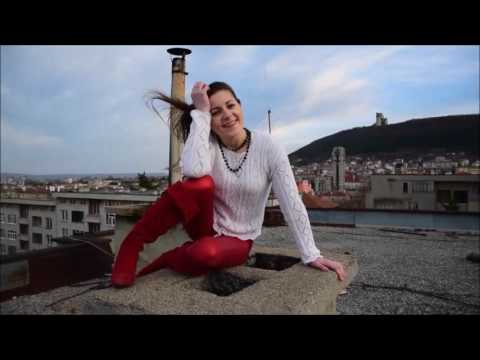 NiNA dance in high heels & wetlook leggings at the roof