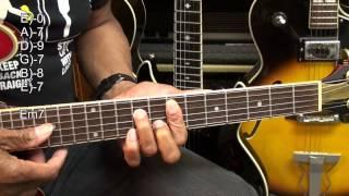 B.B. King The Thrill Is Gone Guitar Chord TABS #306 Tutorial Lesson EricBlackmonMusicHD