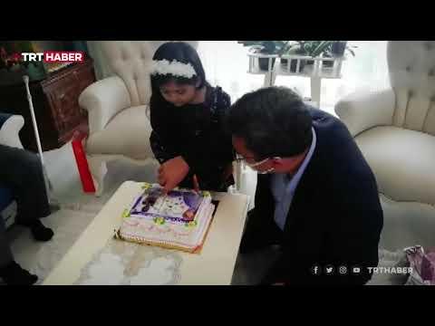 Şehit polisin kızına doğum günü sürprizi