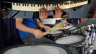 Live Piano & Drum Cover: Come Thou Fount of Every Blessing