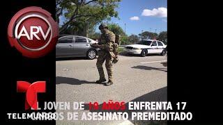 Momento en el que las autoridades arrestan a Nikolas Cruz | Al Rojo Vivo | Telemundo