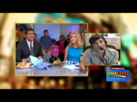 The Pizzaburger on Good Morning America Live!