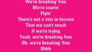High School Musical Breaking Free - Karaoke