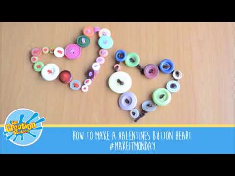 How to make a Valentine's Button Heart