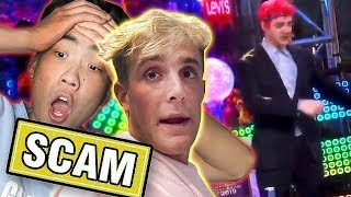 Jake Paul & Ricegum SCAM Mystery unbox ? / Ninja New Years Cringe / 📰 PEW NEWS📰 width=