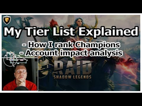 RAID Shadow Legends | My Tier List Explained & How I Rank Champions