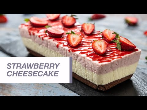 No Bake Strawberry Cheesecake | Food Channel L Recipes
