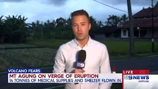 Bali Volcano   9 News Perth