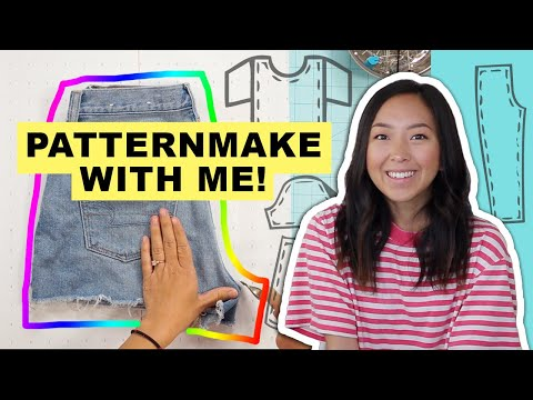 How to trace your clothes and turn them into PATTERNS! @coolirpa