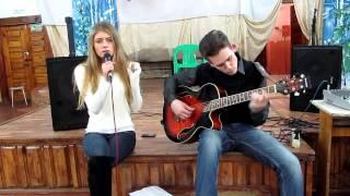 Adam Lambert - Feeling good (acoustic cover by Lilia Shevchenko and Sergei Lashkov)