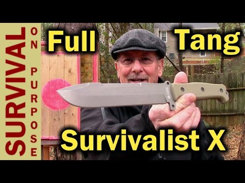 Kizlyar Supreme Survivalist X Full Tang Survival Knife - Not A Rambo Knife