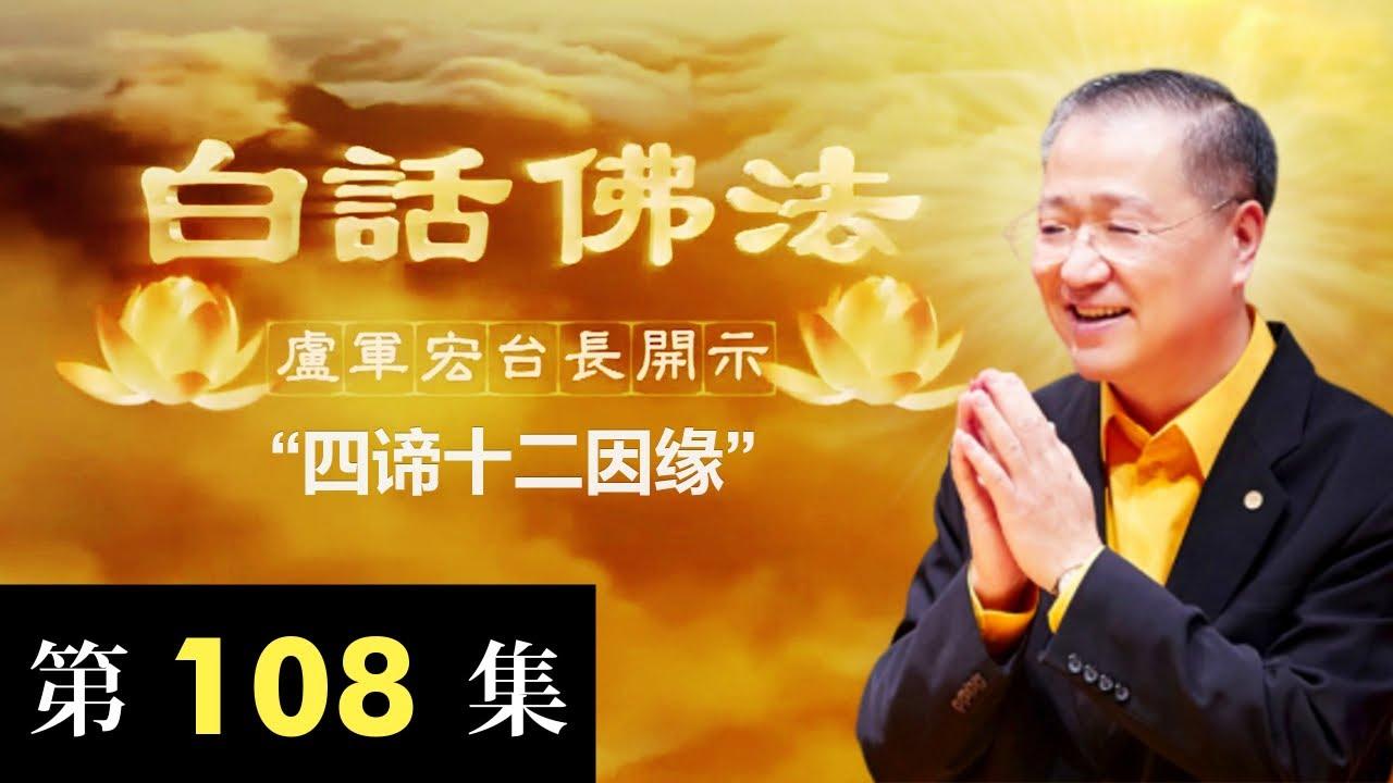 卢台长【四谛十二因缘】2020年7月25日卢军宏台长白话佛法开示(第108集)