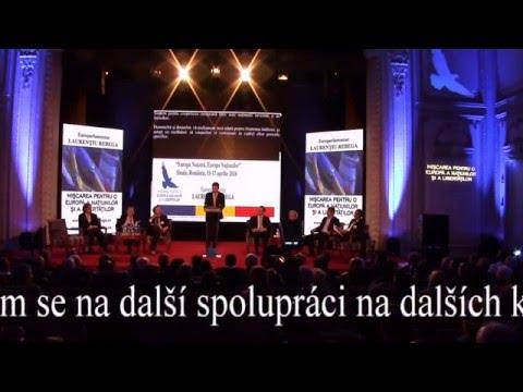Tomio Okamura: Anglický projev na konferenci s Marine Le Pen v Bukurešti (české titulky)