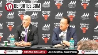 John Paxon and Gar Forman Chicago Bulls vs  Philadelphia 76ers