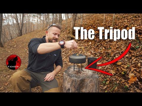 🔥The Unusual Mil-Tec Tripod for Alcohol Stoves - Review