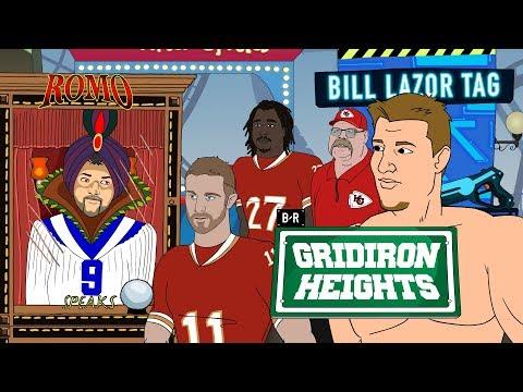 "Gridiron Heights, Season 2, Ep. 5: Romo Predicts a ""6/9"" in Gronk's Future"