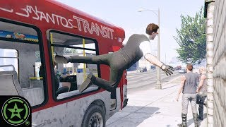 Get in the Bus! - GTA V: Action Figures (1-20) | Let's Play