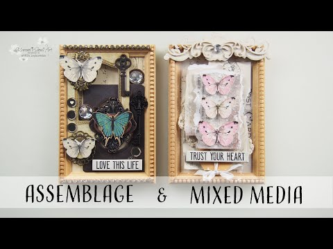 Mixed Media & Assemblage – Altering Tim Holtz Wooden Picture Frames ♡ Maremi's Small Art ♡