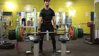 Shurg 440Lbs Shoulder trap workout💪 Vicky mahor Brother